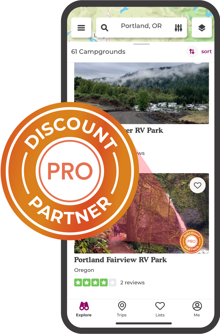 Enjoy discounts at over 1,000 campgrounds.