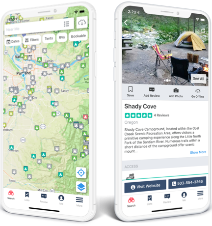 The #1 Camping App