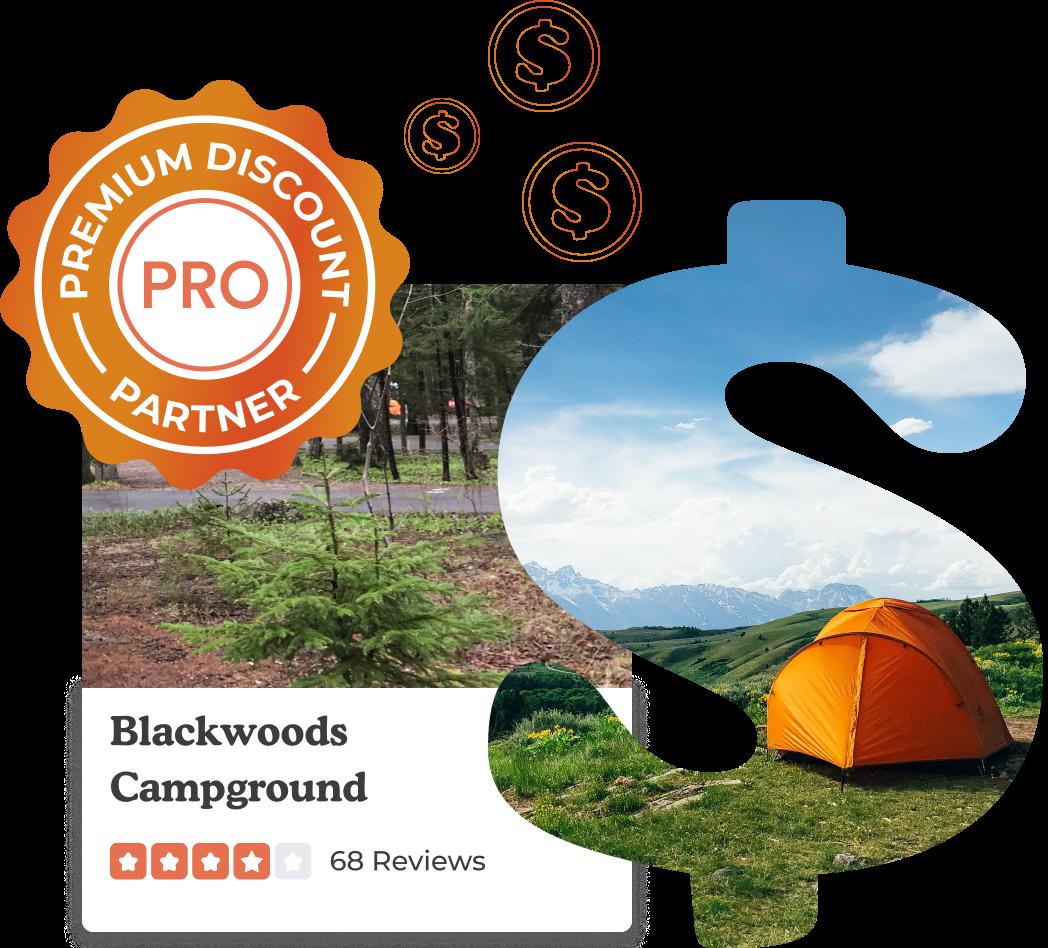 Camping Discounts Masked Dollar Sign